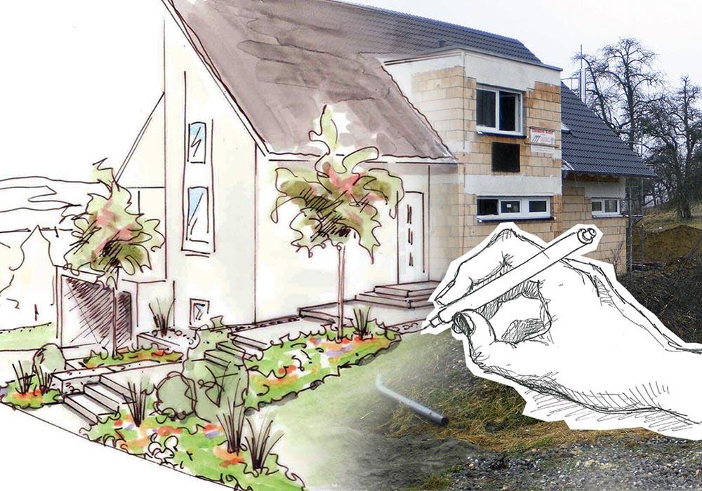 Schritt f r schritt grimm f r garten naturpools und landschaftsg rtner - Garten zeichnen ...